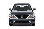 Car photography straight front view of a 2019 Nissan Versa-Sedan SV 4 Door Sedan Front View