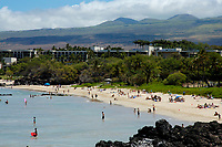Hapuna Beach State Park and the Hapuna Prince resort, south Kohala coast, The Big Island of Hawaii