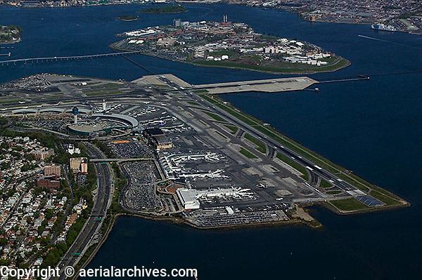aerial photograph LaGuardia airport, LGA, Queens, New York City