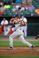 Wisconsin Timber Rattlers shortstop Blake Allemand (6) at bat during a game against the Peoria Chiefs on August 21, 2015 at Dozer Park in Peoria, Illinois.  Wisconsin defeated Peoria 2-1.  (Mike Janes/Four Seam Images)
