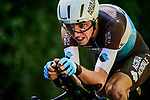 Romain Bardet (FRA) AG2R La Mondiale in action during Stage 13 of the 2019 Tour de France an individual time trial running 27.2km from Pau to Pau, France. 19th July 2019.<br /> Picture: ASO/Pauline Ballet | Cyclefile<br /> All photos usage must carry mandatory copyright credit (© Cyclefile | ASO/Pauline Ballet)