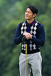 HAIKOU, CHINA - OCTOBER 29:  Hong Kong actor Aaron Kwok looks on the 2nd hole during day three of the Mission Hills Start Trophy tournament at Mission Hills Resort on October 29, 2010 in Haikou, China. The Mission Hills Star Trophy is Asia's leading leisure liflestyle event which features Hollywood celebrities and international golf stars. Photo by Victor Fraile / The Power of Sport Images