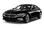 2019 BMW 8 Series Basis 4 Door Sedan angular front stock photos of front three quarter view