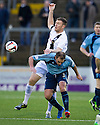 Ayr Utd's Kevin Kyle goes into the back of Forfar's Iain Campbell.