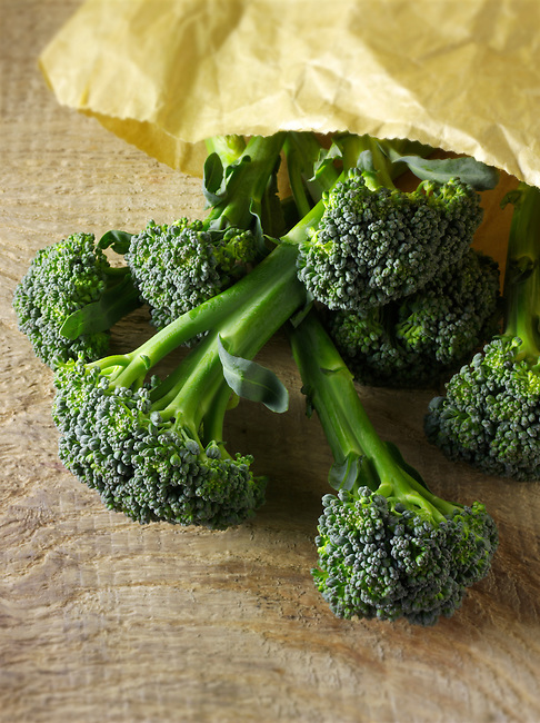 Fresh whole Broccoli spears