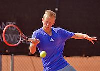 Netherlands, Rotterdam August 07, 2015, Tennis,  National Junior Championships, NJK, TV Victoria,  Quinten Kieboer<br /> Photo: Tennisimages/Henk Koster