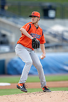 Bowling Green Hot Rods pitcher Matthew Liberatore (34) delivers a pitch to the plate against the West Michigan Whitecaps on May 21, 2019 at Fifth Third Ballpark in Grand Rapids, Michigan. The Whitecaps defeated the Hot Rods 4-3.  (Andrew Woolley/Four Seam Images)