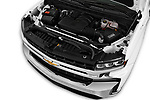 Car Stock 2019 Chevrolet Silverado-1500 LT 4 Door Pick-up Engine  high angle detail view