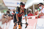 Jack Haig (AUS) Bahrain Victorious crosses the finish line in 4th place at the end of Stage 9 of La Vuelta d'Espana 2021, running 188km from Puerto Lumbreras to Alto de Velefique, Spain. 22nd August 2021.     <br /> Picture: Luis Angel Gomez/Photogomezsport   Cyclefile<br /> <br /> All photos usage must carry mandatory copyright credit (© Cyclefile   Luis Angel Gomez/Photogomezsport)