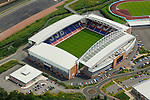 Football grounds from the air Aerial view of JJB Stadium, Wigan, home of Wigan Athletic FC and Wigan Warriors RLFC
