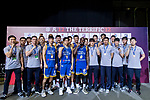 Seoul Samsung Thunders celebrate winning the Third Place match against Nagoya Diamond Dolphins The Asia League's The Terrific 12 at Studio City Event Center on 23 September 2018, in Macau, Macau. Photo by Yu Chun Christopher Wong / Power Sport Images for Asia League