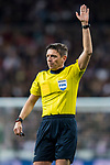 Referee Gianluca Rocchi in action  during the UEFA Champions League 2017-18 Round of 16 (1st leg) match between Real Madrid vs Paris Saint Germain at Estadio Santiago Bernabeu on February 14 2018 in Madrid, Spain. Photo by Diego Souto / Power Sport Images