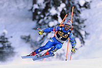 19th December 2020; Saslong, Val Gardena, Tyrol, Italy; International Ski Federation Alpine Ski World Cup, 2nd Men's Downhill, Val Gardena; Travis Ganong from USA