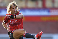 5th September 2020; Kingsholm Stadium, Gloucester, Gloucestershire, England; English Premiership Rugby, Gloucester versus London Irish; Billy Twelvetrees of Gloucester watches his conversion kick