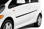 Side body molding detail on a 2012 Mitsubishi MiEV ES.