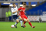 International Friendly match between Wales and Scotland at the new Cardiff City Stadium : Wales' Aaron Ramsey and Scotland's James McFadden.