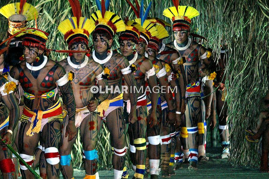 Festa do Índio em Bertioga. São Paulo. 2004. Foto de Caetano Barreira.