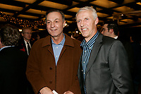 Hockey Legends  ; former number 10 for Les Canadiens Montreal team Guy Lafleur (L)<br /> with Mike Bossy (R)<br /> at the Premiere of the quebec movie  LES BOYS IV<br /> <br /> photo : Roussel  - Images Distribution