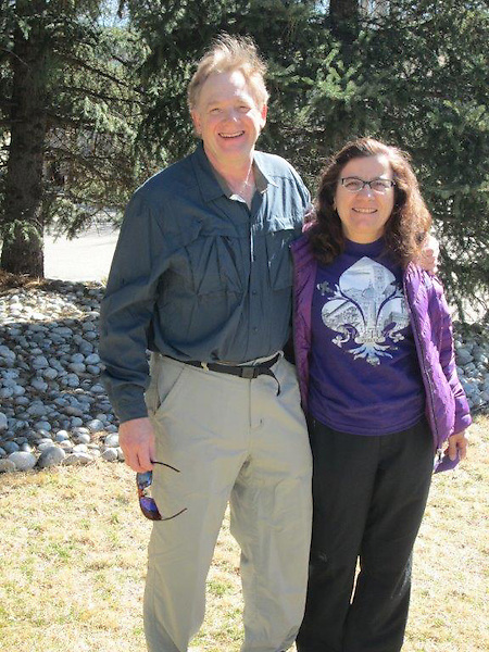 John Kieffer and Beth Crespo departing on their March 2014 Ski Adventure, Europe.