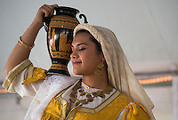 """""""Northern Lights"""" (Vorio Sellas) dancer Penelope Foudeas performs a traditional Greek dance routine during the Holy Transfiguration Greek Orthodox Church's 21st annual Greek Festival."""
