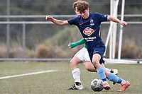 Noah Tipene-Clegg of the North Wellington FC during the Central League Football -  North Wellington FC v Wairarapa United at Alex Moore Park ( Alex Moore Artificial), Johnsonville, New Zealand on Saturday 29 May 2021.<br /> Copyright photo: Masanori Udagawa /  www.photosport.nz