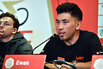 Caleb Ewan (AUS) Lotto-Soudal at the Top Riders press conference for the UAE Tour 2020 held at<br /> Westin Dubai Mina Seyahi, Dubai. 22nd February 2020.<br /> Picture: LaPresse/Massimo Paolone | Cyclefile<br /> <br /> All photos usage must carry mandatory copyright credit (© Cyclefile | LaPresse/Massimo Paolone)