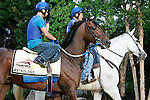 Preakness contender Astrology heads to the track for a gallop on Thursday morning, May 19, 2011, at Pimlico Race Course in Baltimore, MD. (Joan Fairman Kanes/EclipseSportswire)