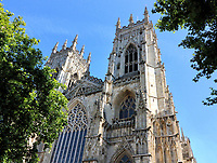 The Cathedral of Saint Peter in York, commonly known as York Minster, is one of the largest of its kind in Northern Europe. <br /> The minster was completed in 1472 after several centuries of building and is the seat of the  Archbishop of York, the third-highest office of the Church of England (after the monarch and the Archbishop of Canterbury). York, UK on August 8th 2020<br /> <br /> Photo by Keith Mayhew