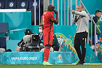 ST PETERSBURG, RUSSIA - JUNE 12 :  Thierry Henry assistent coach of Belgian Team, and Romelu Lukaku forward of Belgium pictured during the 16th UEFA Euro 2020 Championship Group B match between Belgium and Russia on June 12, 2021 in St Petersburg, Russia, 12/06/2021 <br /> Photo Photonews / Panoramic / Insidefoto <br /> ITALY ONLY