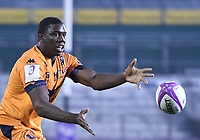 1st May 2021; Recreation Ground, Bath, Somerset, England; European Challenge Cup Rugby, Bath versus Montpellier; Yacouba Camara of Montpellier passes down the line