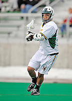 1 April 2008: University of Vermont Catamounts' Derek Lichtfuss, a Freshman from Lutherville, MD, in action against the Fairfield University Stags at Moulton Winder Field, in Burlington, Vermont. The Catamounts rallied to overcome a five goal deficit and defeat the visiting Stags 9-8 notching their third win of the season...Mandatory Photo Credit: Ed Wolfstein Photo