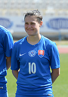 20180307 - LARNACA , CYPRUS :  Slovakian Martina Surnovska pictured during a women's soccer game between  Slovakia and the Czech Republic , on Wednesday 7 March 2018 at the GSZ Stadium in Larnaca , Cyprus . This is the final game in a decision for 9 th or 10 th place of the Cyprus Womens Cup , a prestigious women soccer tournament as a preparation on the World Cup 2019 qualification duels. PHOTO SPORTPIX.BE   DAVID CATRY