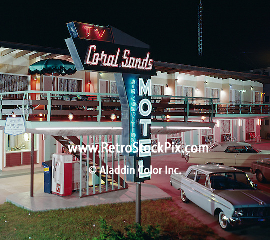 Coral Sands Motel, Wildwood Crest, NJ. Neon Sign - 1959.