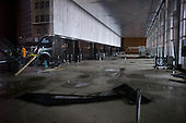 New York, New York.October 30, 2012..A building lobby in lower Manhattan damaged by water from Hurricane Sandy.