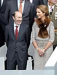 The Secretary General of the Socialist Party (PSOE) Alfredo Perez Rubalcaba and the Infanta Elena of Spain attend the National Day Military Parad.October 12,2012.(ALTERPHOTOS/Acero)