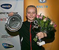 01-12-13,Netherlands, Almere,  National Tennis Center, Tennis, Winter Youth Circuit, Boys 12 years , overall winner:  Daan Hendriks<br /> Photo: Henk Koster