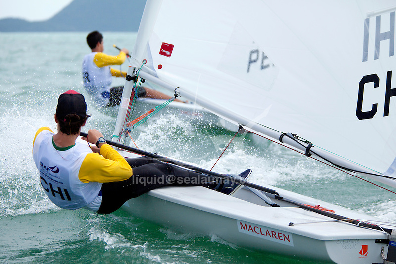 Chile Laser RadialMenHelmCHICS3ClementeSeguel<br /> 2015 Youth Sailing World Championships,<br /> Langkawi, Malaysia.