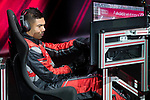 Carlos Henrique Casemiro of Real Madrid CF races in his simulated Formula-e car during a race with his teammates during the Audi Handover Sponsorship deal with Real Madrid at the Ciudad Deportivo training grounds in Madrid, Spain. November 23, 2017. (ALTERPHOTOS/Borja B.Hojas)