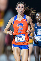 Emma Bates of Boise State sprints towards the fiendish line in 10000 meter semifinal during West Preliminary Track & Field Championships at John McDonnell Field, Thursday, May 29, 2014 in Fayetteville, Ark. (Mo Khursheed/TFV Media via AP Images)