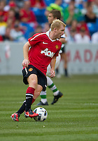 July 16, 2010 Paul Scholes No.18 of Manchester United during an international friendly between Manchester United and Celtic FC at the Rogers Centre in Toronto.