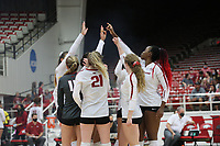 on Sunday, Oct. 10, 2021, during play at Barnhill Arena, Fayetteville. Visit nwaonline.com/211011Daily/ for today's photo gallery.<br /> (Special to the NWA Democrat-Gazette/David Beach)