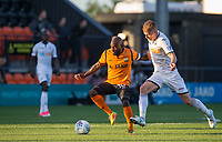 Jamal Campbell-Ryce of Barnet holds off Jay Fulton of Swansea City during the 2017/18 Pre Season Friendly match between Barnet and Swansea City at The Hive, London, England on 12 July 2017. Photo by Andy Rowland.