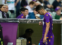 27th March 2021; HBF Park, Perth, Western Australia, Australia; A League Football, Perth Glory versus Newcastle Jets; Jonathan Aspropotamitis of the Perth Glory walks to the change rooms after receiving a red card from referee Daniel Elder