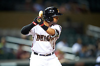 Salt River Rafters Jamie Westbrook (2), of the Arizona Diamondbacks organization, during a game against the Surprise Saguaros on October 21, 2016 at Salt River Fields at Talking Stick in Scottsdale, Arizona.  Salt River defeated Surprise 3-2.  (Mike Janes/Four Seam Images)