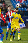 Atletico de Madrid's Saul Iniguez, UD Las Palmas Tana Dominguez during the match of Copa del Rey between Atletico de Madrid and Las Palmas, at Vicente Calderon Stadium,  Madrid, Spain. January 10, 2017. (ALTERPHOTOS/Rodrigo Jimenez)