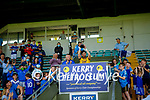 Annascaul captain Tommy Pierce lifts the Junior Club Cup after defeating Castlegregory in the 2020 Junior football championship final