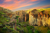Succor Creek Canyon with sunset clouds. Malheur County, Oregon
