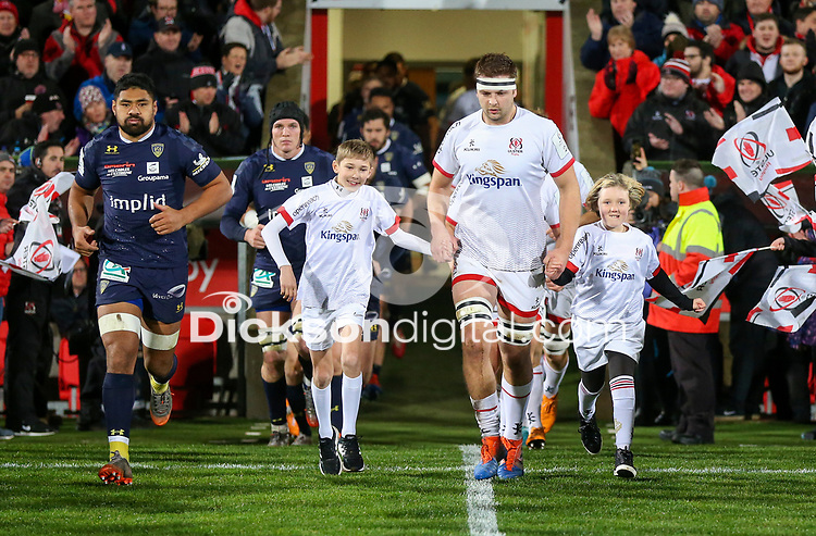 Friday 22nd November 2019 | Ulster Rugby vs Clermont Auvergne<br /> <br /> Ulster mascots Lily-Rose Sturgeon and Luka Matchett with Iain Henderson during the Heineken Champions Cup Pool 3 Round 2 match between Ulster Rugby  and Clermont Auvergne at Kingspan Stadium, Ravenhill Park, Belfast, Northern Ireland. Photo by John Dickson/DICKSONDIGITAL