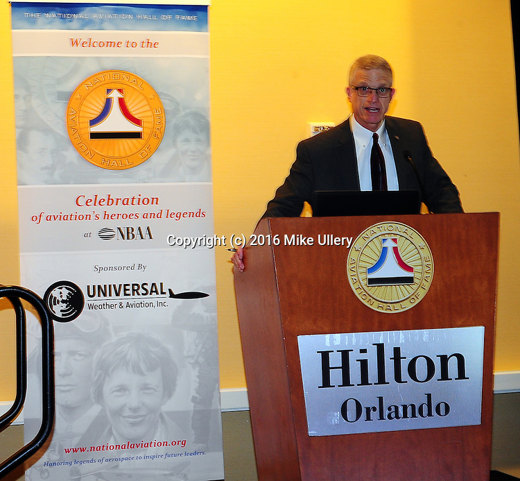 NBAA Convention National Aviation Hall of Fame reception at the Hilton, Orlando on October 31, 2016.