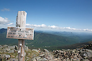 Alpine Garden Trail on the eastern slope of Mount Washington in the New Hampshire, White Mountains USA.